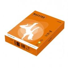 Carta Maestro Color A4 210X297Mm 160Gr 250Fg Arancio Forte Or43 Mondi