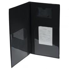 Portaconto 13X23Cm Nero In Pvc Basic Con 4+2 Buste Fisse