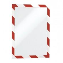 Cornice Adesiva Rimovibile-Magnetica 210X297Mm Rosso-Bianco Durable (conf.2)