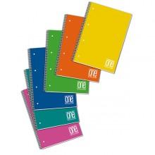 Maxiquaderno Spiralato Ppl 210X297Mm A4 80Fg+1 80Gr 1Rigo One Color Blasetti (conf.6)