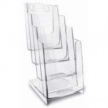 Portadepliant 4 Tasche 1/3 A4 - 11,5X26,5X18,4Cm Arda