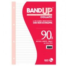 BLOCCO COLLATO FORATI RINFORZATI BANDUP A4 90gr 40fg 1rigo BM (conf. 10 )