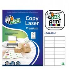 Etichetta Adesiva Lp4W Bianca 100Fg A4 99,1X34Mm (16Et/Fg) Laser Tico