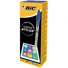 Scatola 12 Penna Sfera Cristal Stylus 1,0Mm Blu Bic
