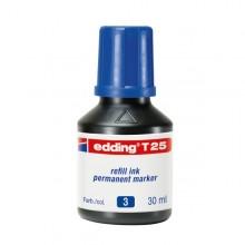 Ricarica Inchiostro Permanente 30Ml T25 Blu Edding
