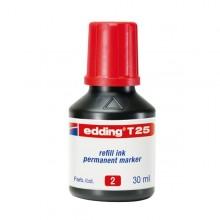 Ricarica Inchiostro Permanente 30Ml T25 Rosso Edding
