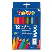 Astuccio 12 Pastelli Colorati Maxi Jumbo 100 Fsc Primo