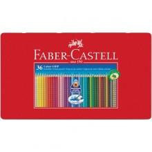 Astuccio Metallo 36 Pastelli Colorati Acquerellabili Color Grip Faber Castell
