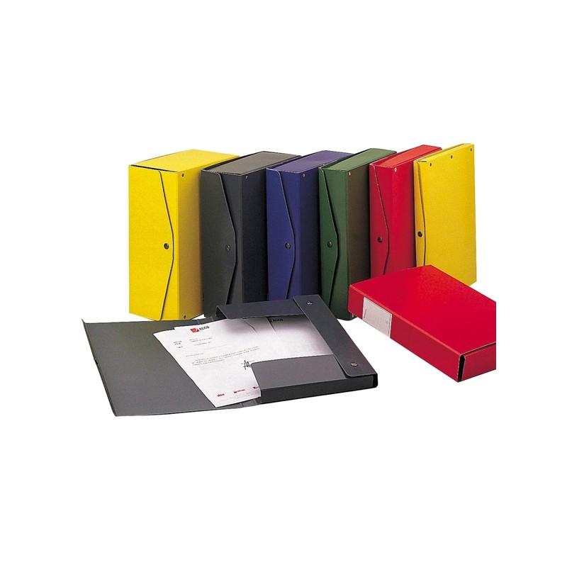 Scatola archivio PROJECT 4 giallo 25x35cm dorso 4cm KING MEC (conf. 5 )