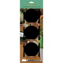 Set 3 Mini Lavagne Segnaposto Silhouette 'Piatto' Securit