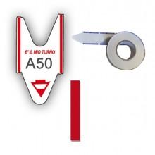 5 Rotoli Da 2000 Tickets Rosso Per Elimina Code Printex