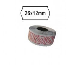 Pack 10 Rotoli 1000 Etich. 26X12Mm Onda Bianco Remov. Printex