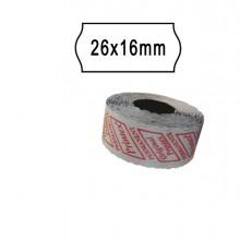 Pack 10 Rotoli 1000 Etich. 26X16Mm Onda Bianco Remov. Printex