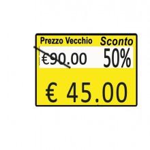 """Pack 10 Rotoli 600 Etich. 26X19Mm """"Taglio Prezzo..."""" Giallo Perm. Printex"""