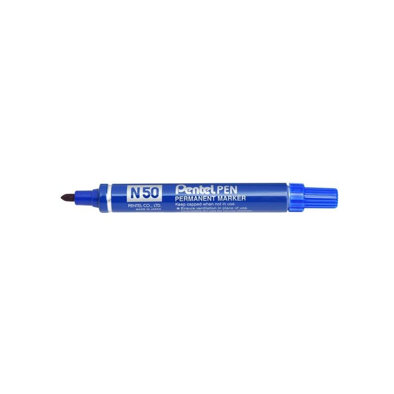 Marcatore Pentel Pen N50 Blu P.Tonda