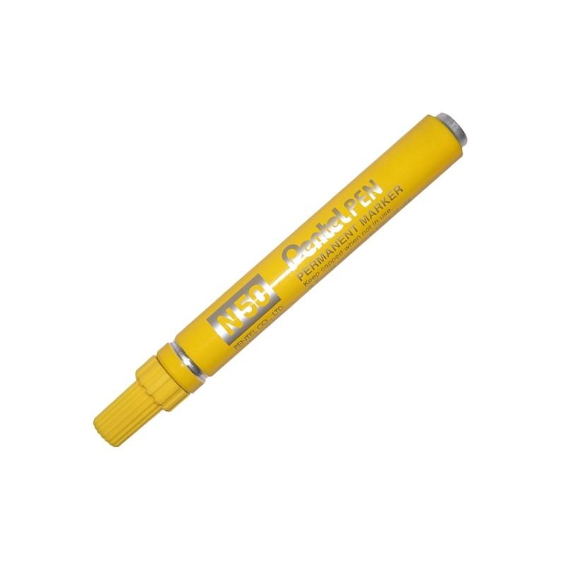 Marcatore Pentel Pen N50 Giallo P.Tonda