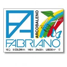 ALBUM ARCOBALENO (24X33CM) FG 10 140GR 5 COLORI FABRIANO (conf. 10 )