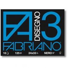 Album 3 Nero (240X330Mm) Fg 10 125Gr Fabriano (conf.10)