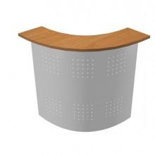 Sopralzo Angolare 90° Reception Noce Ch./Metallo - Easy