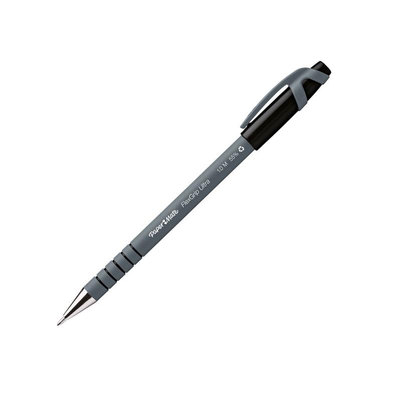 Penna sfera FLEXGRIP ULTRA STICK 1.0 nero PAPERMATE (conf. 12 )