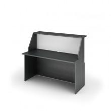 Modulo Reception Sopralzo+Desktop 140X76X117Cm Nero Ven. /Bianco - Prestige