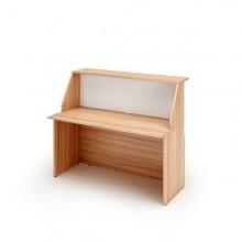 Modulo Reception Sopralzo+Desktop 140X76X117Cm Ciliegio Ar. /Bianco - Prestige