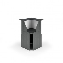 Modulo Reception 90° 76X76X117Cm Nero Ven. /Bianco - Prestige