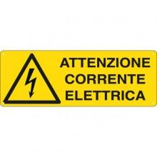 Cartello Alluminio 35X12,5Cm 'Attenzione Corrente Elettrica'