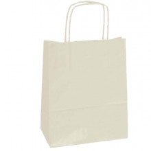 25 SHOPPERS CARTA KRAFT 18x8x24CM TWISTED AVORIO