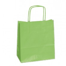 25 SHOPPERS CARTA KRAFT 18x8x24CM TWISTED VERDE MELA