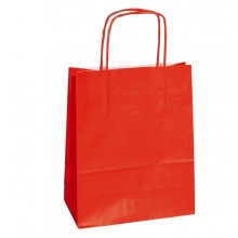 25 SHOPPERS CARTA KRAFT 18x8x24CM TWISTED ROSSO