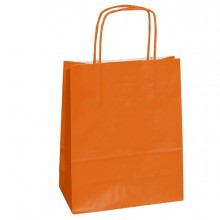 25 SHOPPERS CARTA KRAFT 18x8x24CM TWISTED ARANCIONE