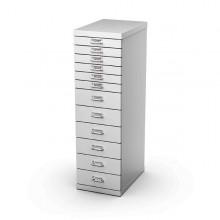 Cassettiera In Metallo A 12 Cassetti 29X43 - H97Cm Grigio